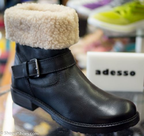 Adesso antique black rugged warm 2 in 1 winter boot